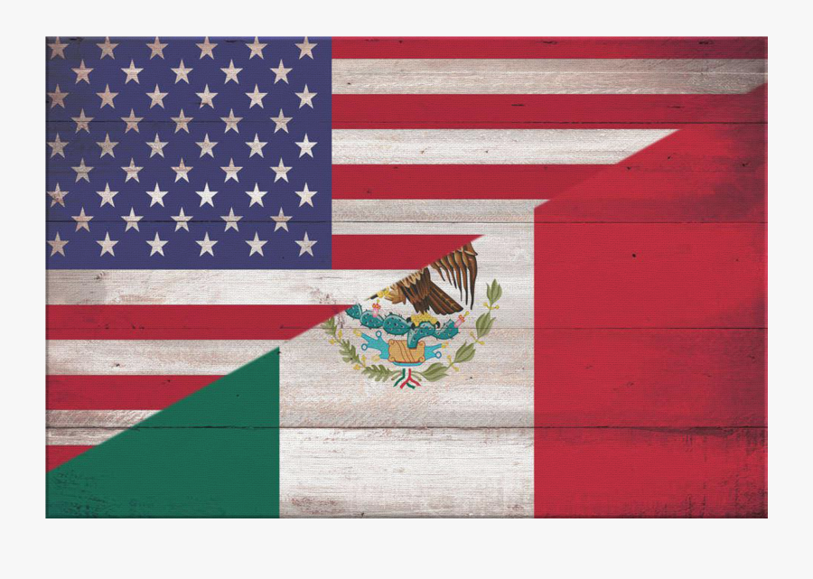 Personalized Mexican American Flag & Family Name Premium - Moving From Mexico To United States, Transparent Clipart