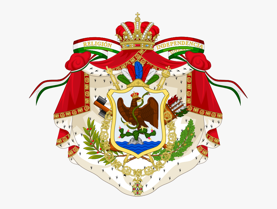 Coat Of Arms Of The First Mexican Empire - Third Mexican Empire, Transparent Clipart
