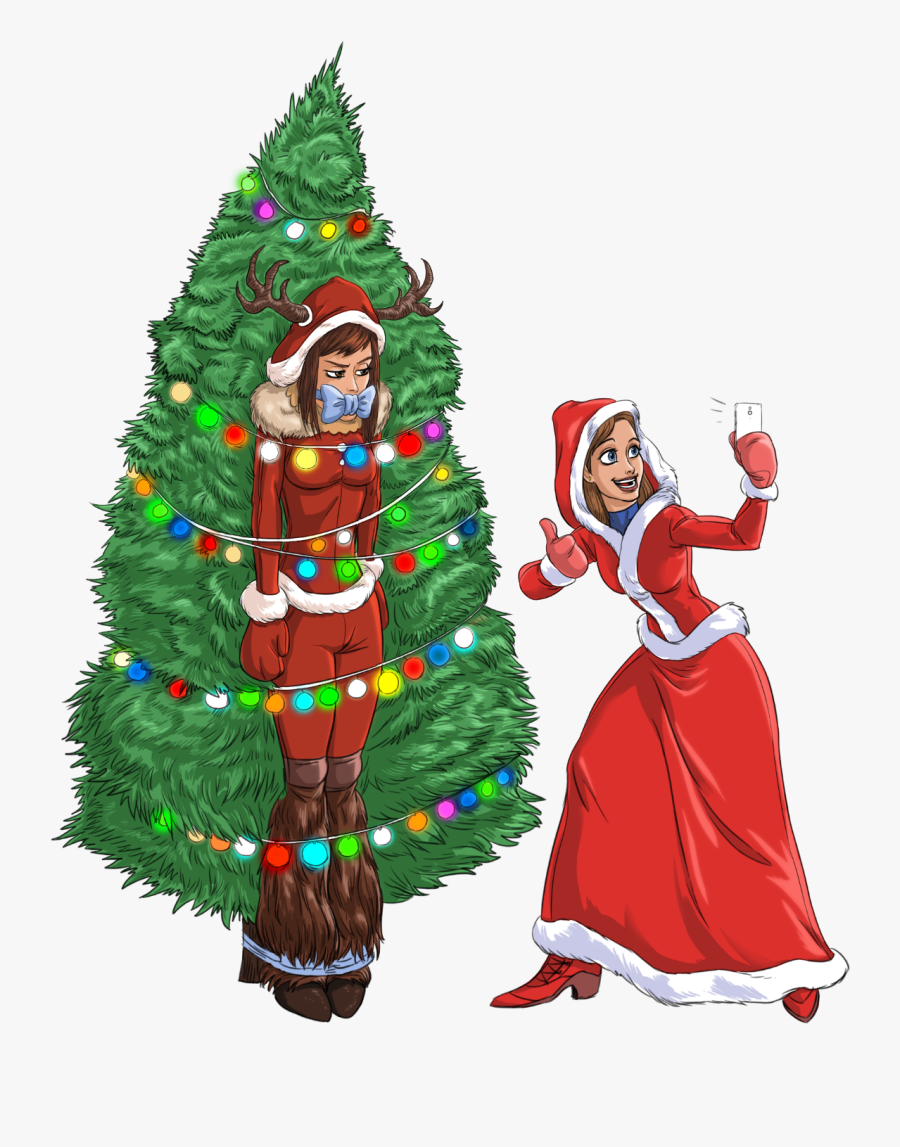 Bunny & Alissa Christmas Large - Christmas Day, Transparent Clipart