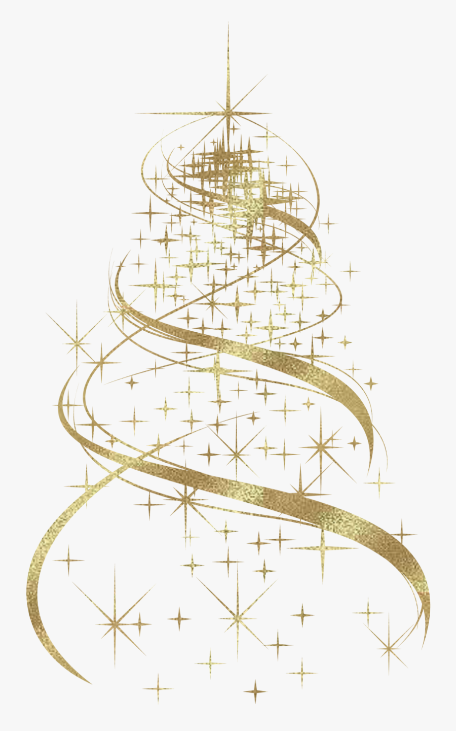 Transparent Gold Christmas Bow Clipart - Christmas Tree Design Png, Transparent Clipart