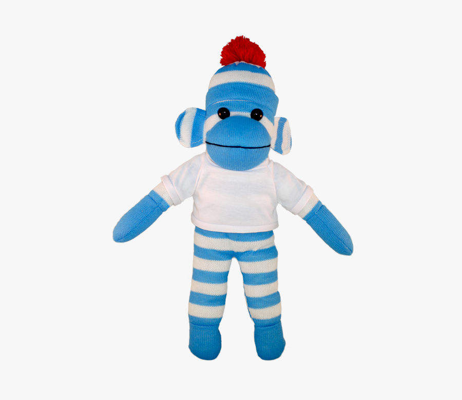 Clip Art Colorful Sock Monkey - Blue Sock Monkey Png, Transparent Clipart