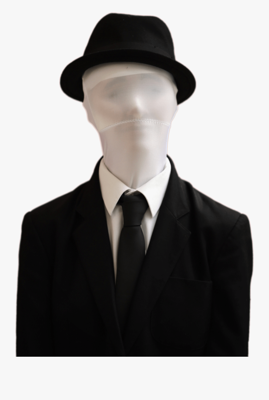 Comics And Fantasy - Slender Man With Hat, Transparent Clipart