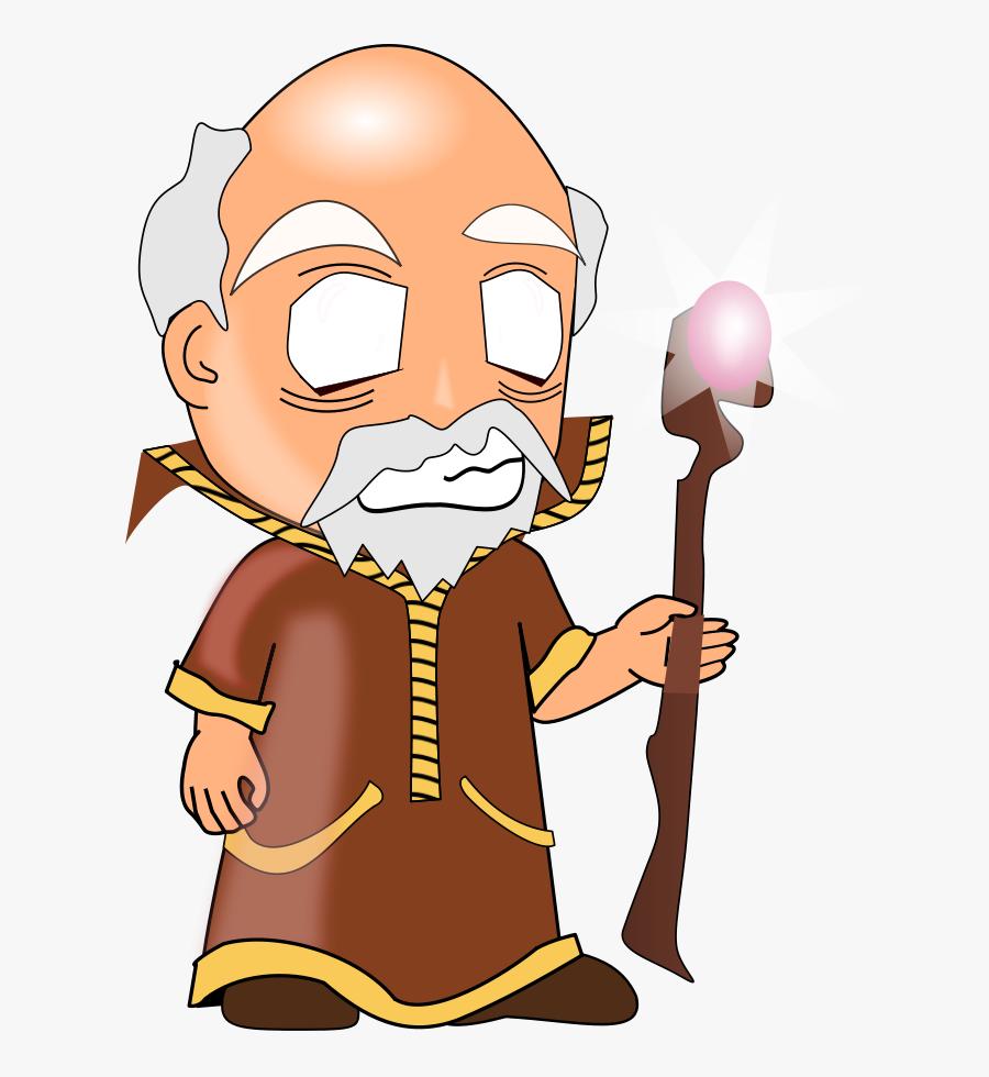 Battle - Clipart - Wise Old Man Clip Art, Transparent Clipart