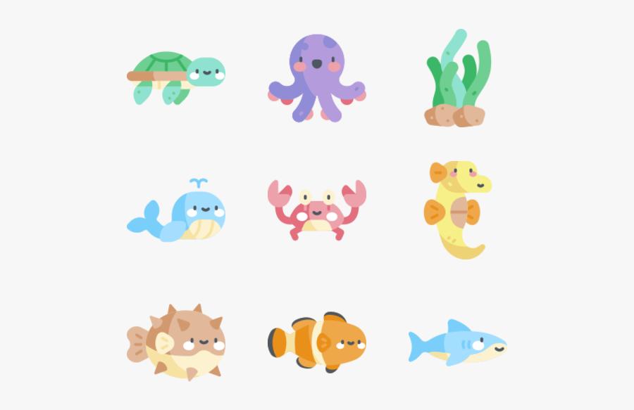 Sea Life - Sea Animals Png, Transparent Clipart
