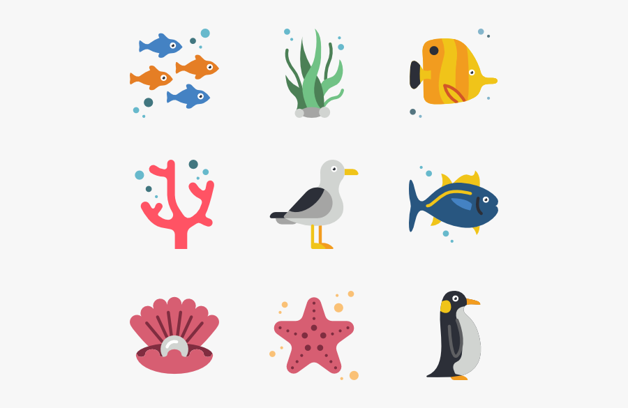Sea Life - Sea Animal Icon, Transparent Clipart