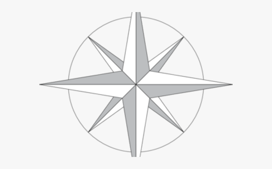 Compass With North South East West, Transparent Clipart