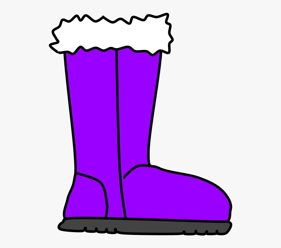 Boots, Fur, Snow, Rain, Purple - Boots Clip Art Png, Transparent Clipart
