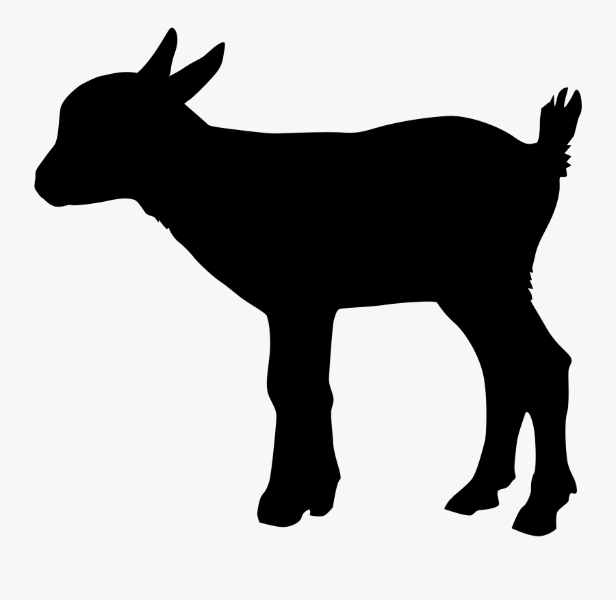 Sheep Goat Cattle Silhouette - Baby Goat Goat Silhouette, Transparent Clipart