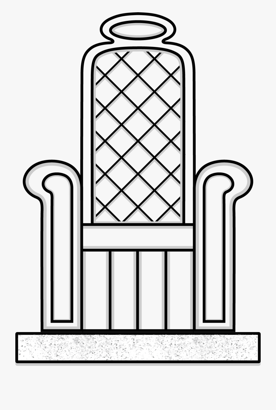 Throne Line Drawing, Transparent Clipart
