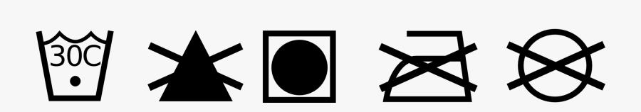 Laundry Wash Symbols - Wash Care Symbols Png , Free Transparent Clipart -  ClipartKey