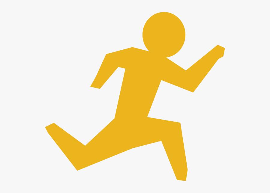 Stick Figure Running, Transparent Clipart