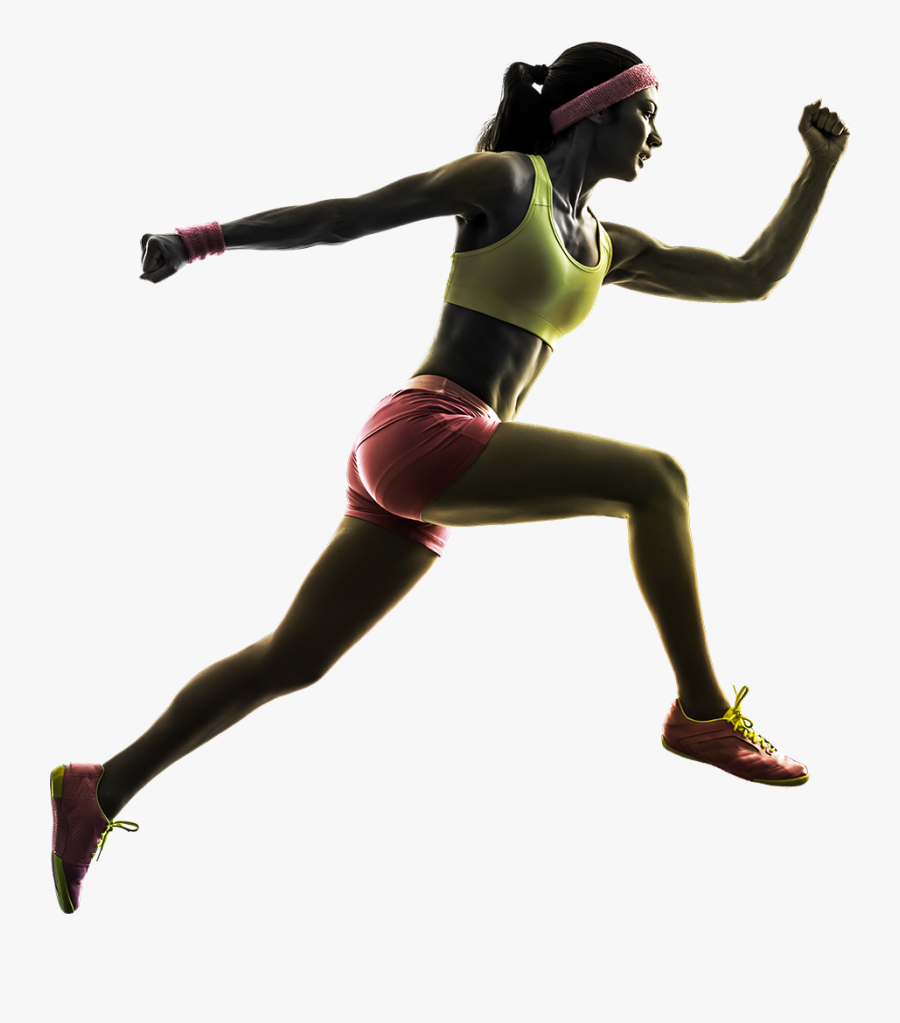 Download For Free Running Man Icon Clipart - Girl Running No Background, Transparent Clipart