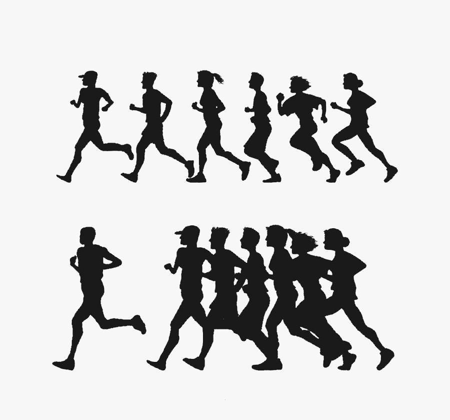 Euclidean Vector Clip Art - People Running Silhouette Png, Transparent Clipart