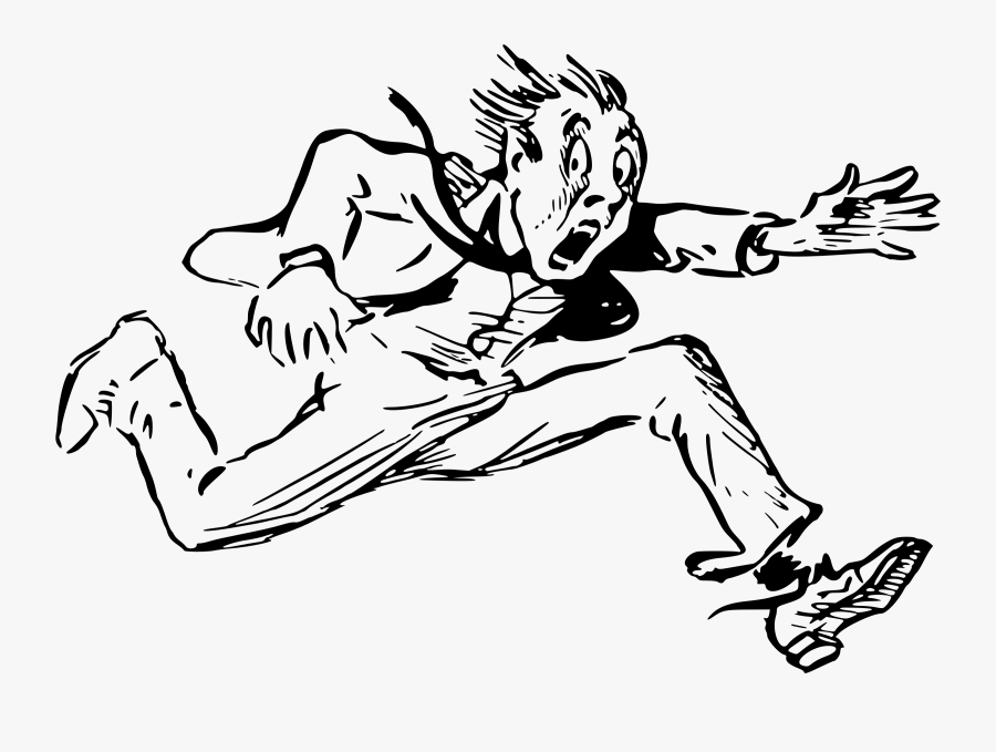 Art,monochrome Photography,shoe - Running Man Drawing Png, Transparent Clipart