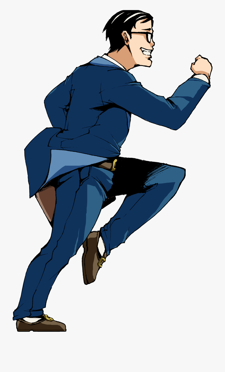 Joannime07elric Running Man In Suit 2 By Joannime07elric - Cartoon Man In Suit Running, Transparent Clipart