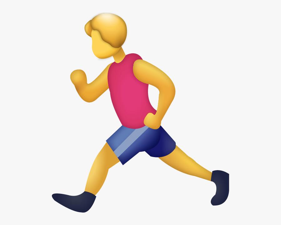 Man Running Emoji Png, Transparent Clipart