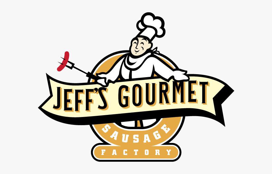 """Jeff""""s Gourmet Sausage Factory - Sausage, Transparent Clipart"""