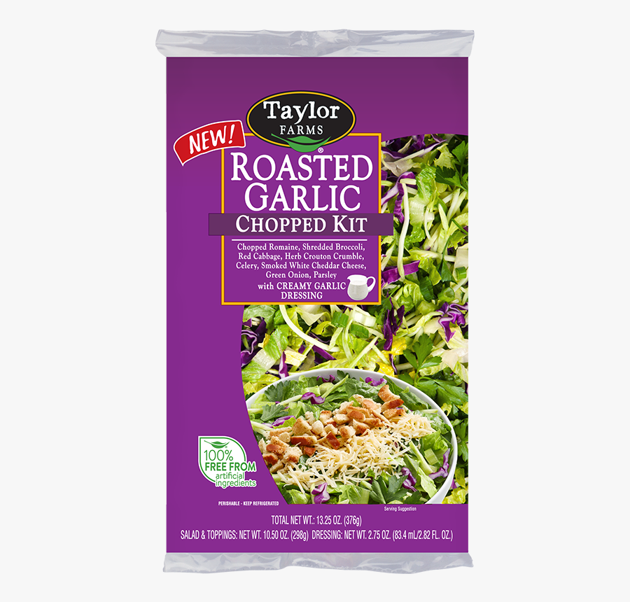 Taylor Farms Roasted Garlic Salad, Transparent Clipart