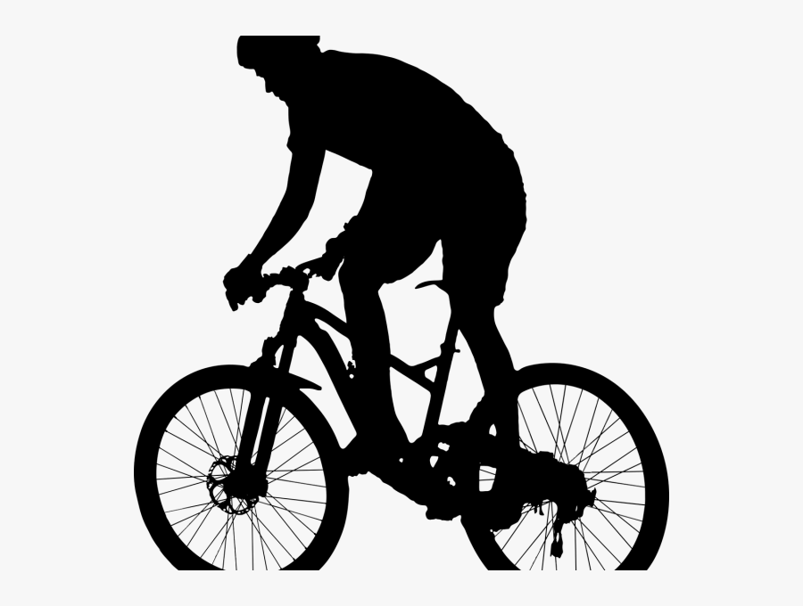 Transparent Riding Bicycle Clipart Black And White Mountain Biking Clip Art Free Transparent Clipart Clipartkey