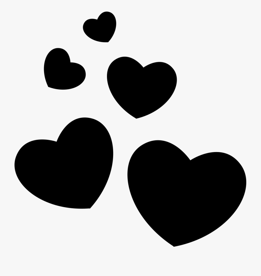 """And White,clip Art,valentine""""s Day - Group Of Hearts Svg, Transparent Clipart"""