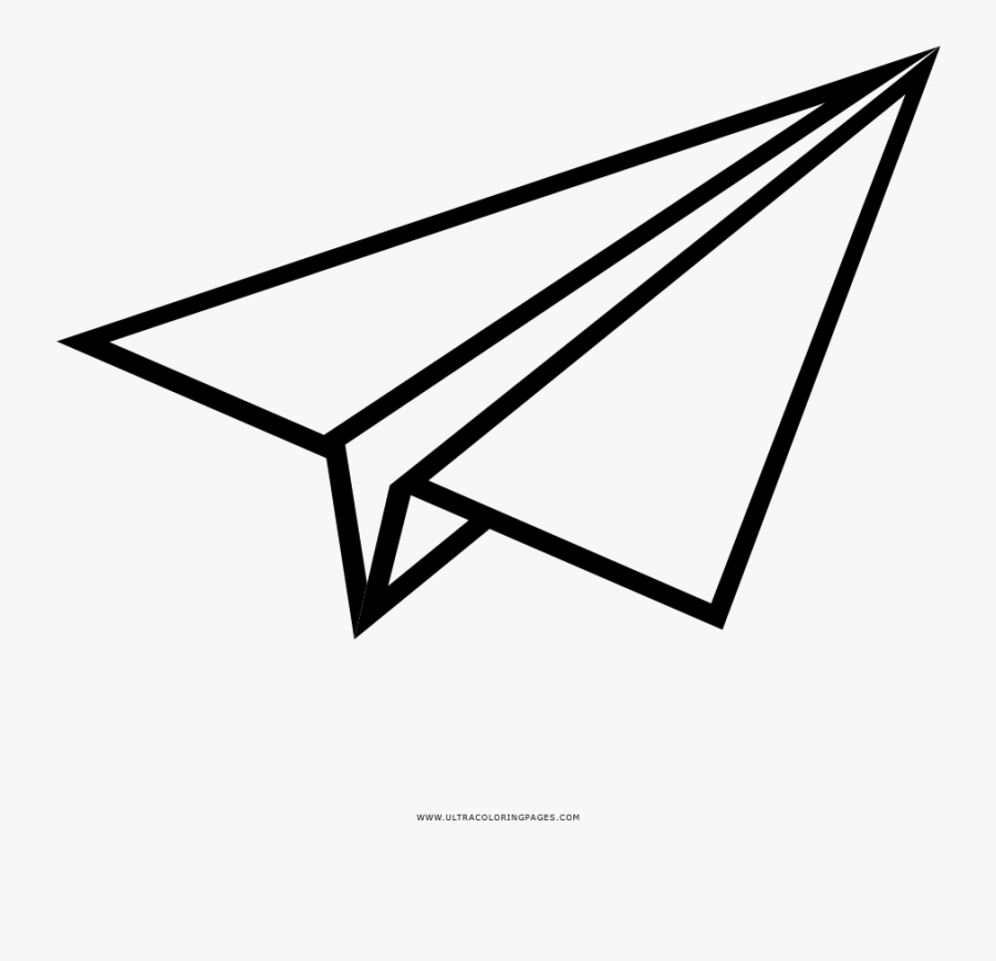 Paper Airplane Coloring Page Paper Plane Easy Drawing Free