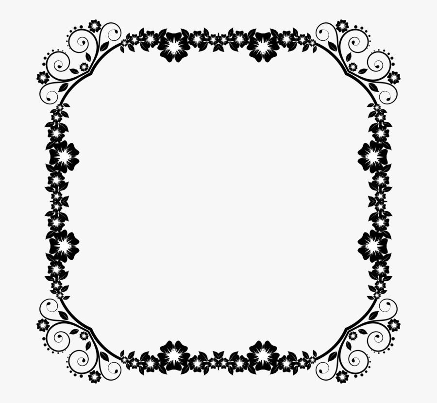 Borders And Frames Decorative Arts Decorative Borders - Transparent Frame Border Design Png, Transparent Clipart