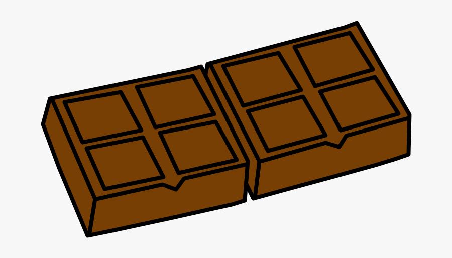 Chocolate Bar, Milk Chocolate - Chocolate Bar, Transparent Clipart