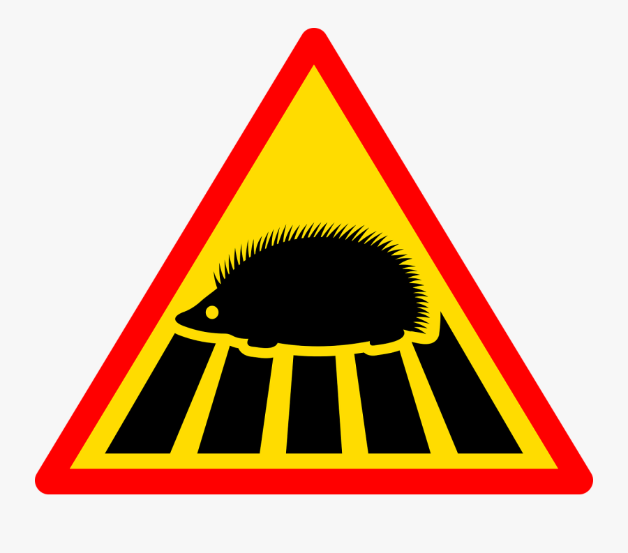 Sign, Road, Road Sign, Traffic, Road Signs, Signpost - Uk Hedgehog Warning Sign, Transparent Clipart