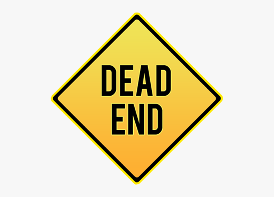 Diamond End Dead Sign Traffic Signs Clipart - Dead End Sign Cartoon, Transparent Clipart