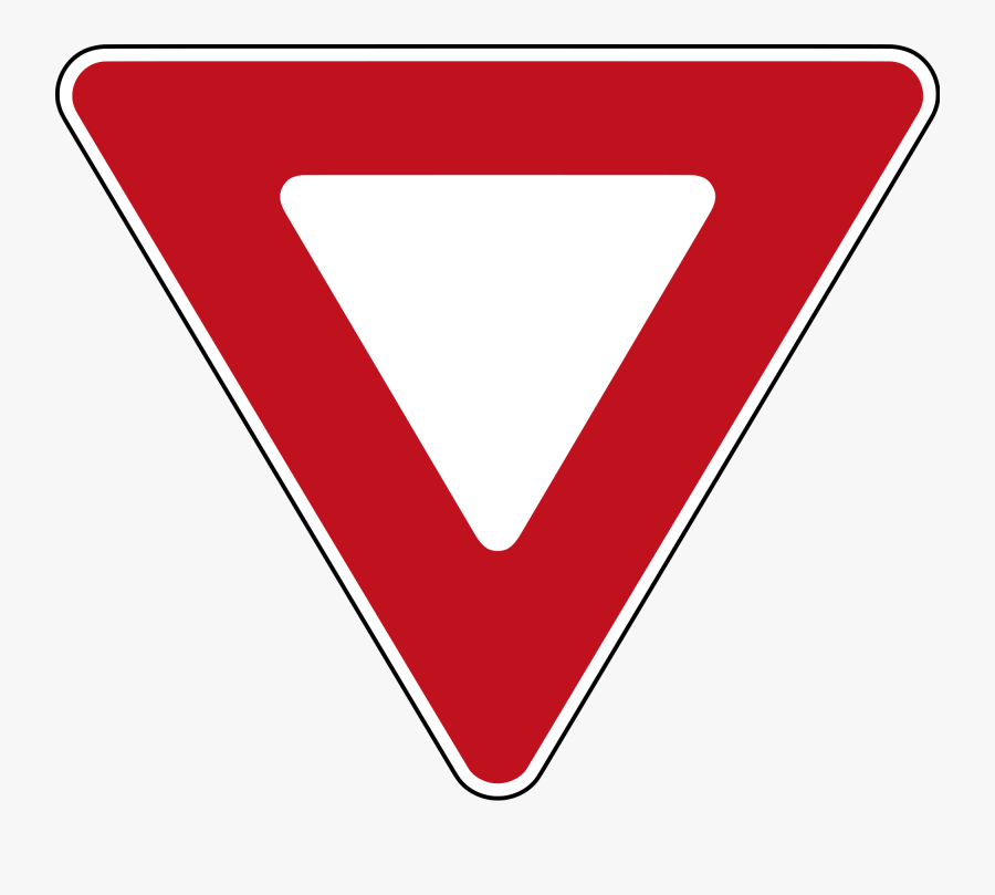 You Must Give The Right Of Way Sign, Transparent Clipart