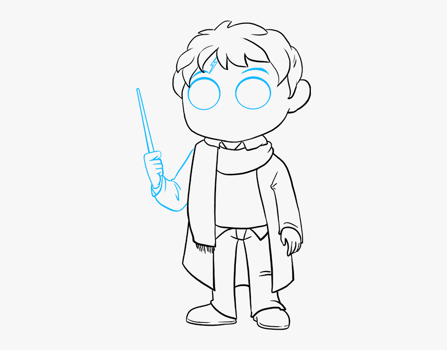 Harry Potter Dobby Drawing Easy - Harry Potter Wand Drawing Easy, Transparent Clipart