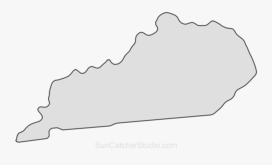 Kentucky Outline SVG Vector, Kentucky Outline Clip art - SVG Clipart