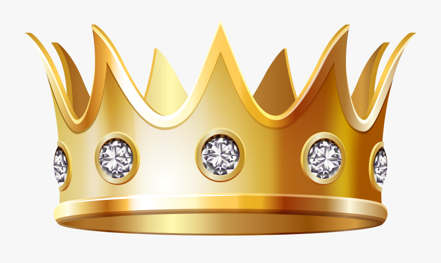 Diamonds And Gold Crown, Transparent Clipart
