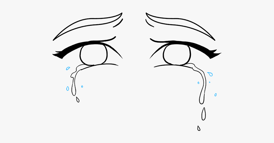 Clip Art How To Draw Really - Sad Girl Crying Drawing Eys, Transparent Clipart