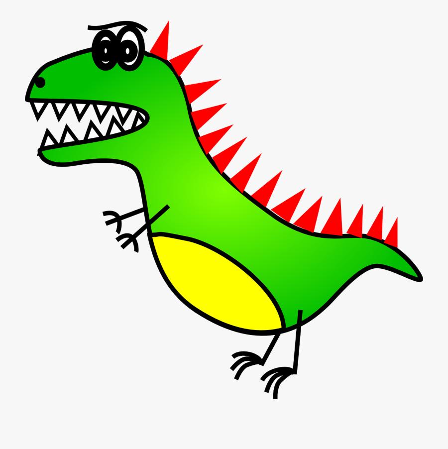 Trex Dinosaur Draw Cartoon, Transparent Clipart