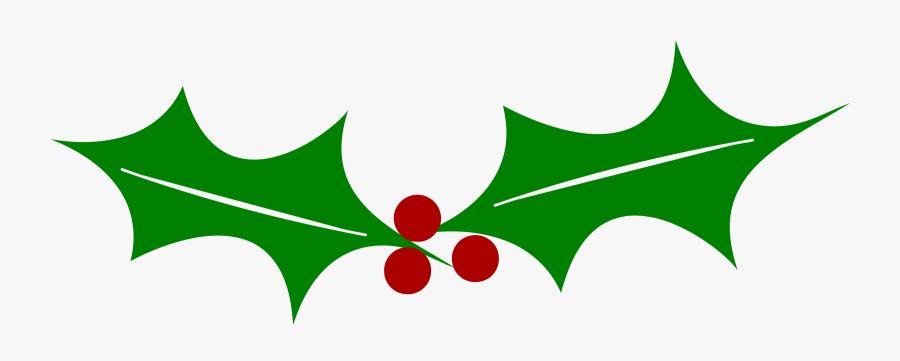 Holly Windows Metafile Leaf Tree Plant Stem - Clip Art, Transparent Clipart
