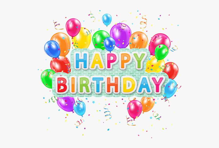 Clip Art Colorful Png Image Arts - Happy Birthday Png, Transparent Clipart
