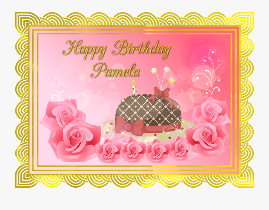 Happy Belated Birthday Pam, Transparent Clipart
