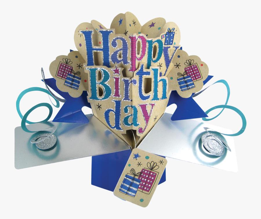 Clip Art Second Nature Pop Ups - Happy Birthday Man 3d, Transparent Clipart