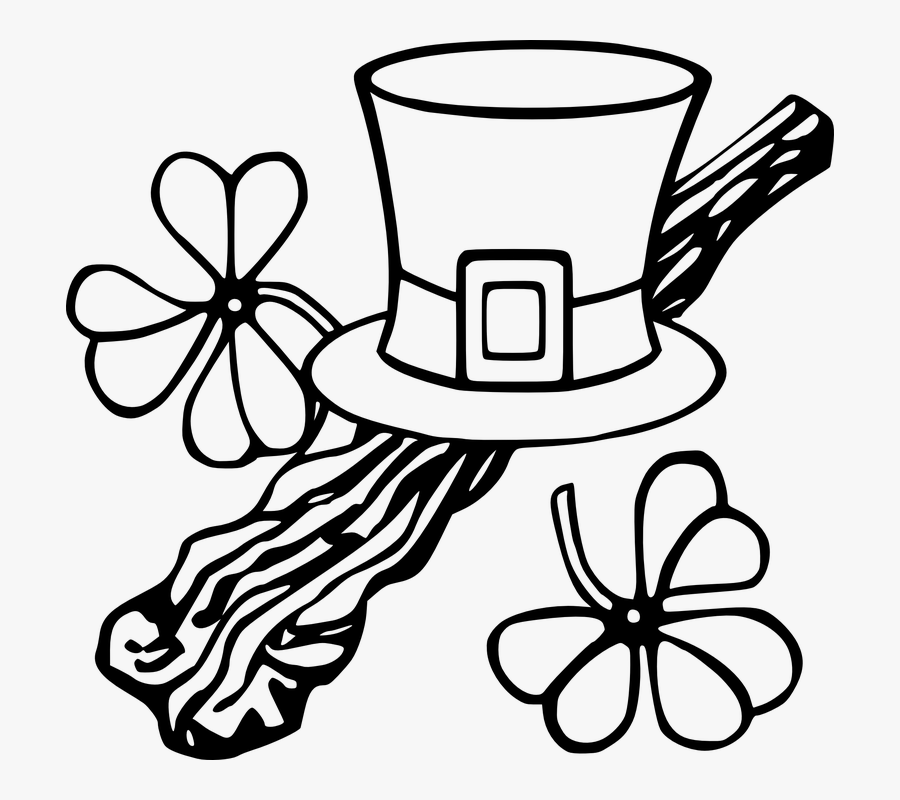 Shillelagh, Shamrock, Irish, Hat, Walking Stick - Free St Patricks Day Clip Art, Transparent Clipart