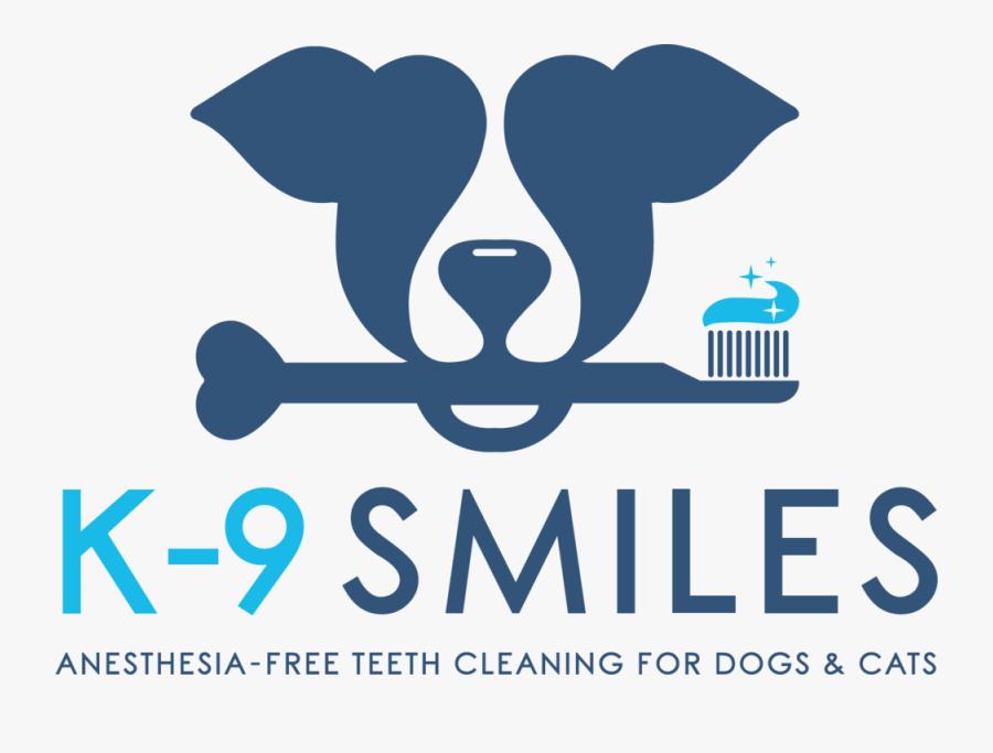 K-9 Smiles Logo With Tagline, Transparent Clipart