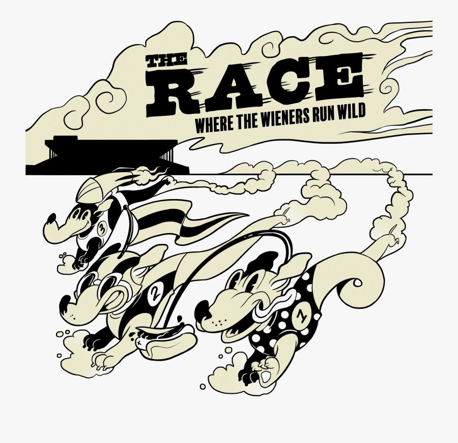 Wienerschnitzel The Race - Illustration, Transparent Clipart
