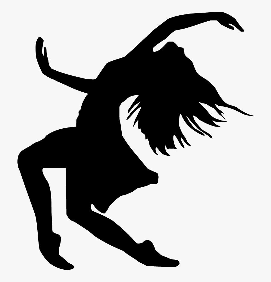 Ballet Dancer Silhouette Free Dance Clip Art - Silhouette Contemporary Dance, Transparent Clipart