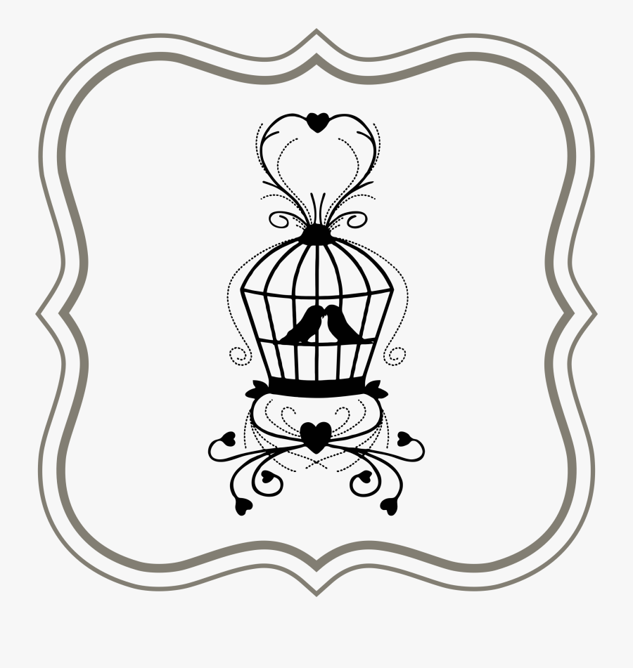 Love Birds In Frame Clip Arts - We Dont Want Wedding Gifts, Transparent Clipart