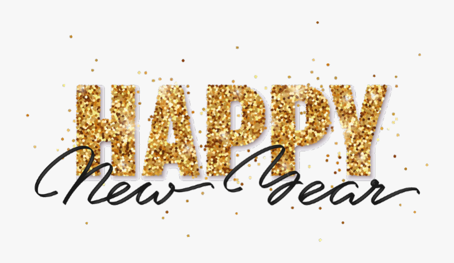 Transparent Happy New Year Png Images Gold New Years Clip Art Free Transparent Clipart Clipartkey
