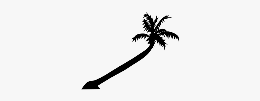 Palm Tree Clipart, Vector Clip Art Online, Royalty - Leaning Palm Tree Drawing, Transparent Clipart