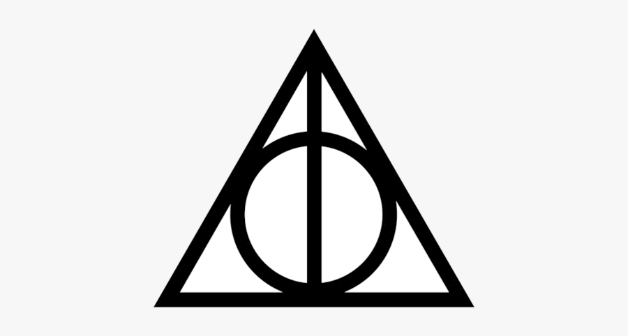 Harry Potter Deathly Hallows Graphics Design Dxf Vector - Harry Potter Deathly Hallows Silhouette, Transparent Clipart