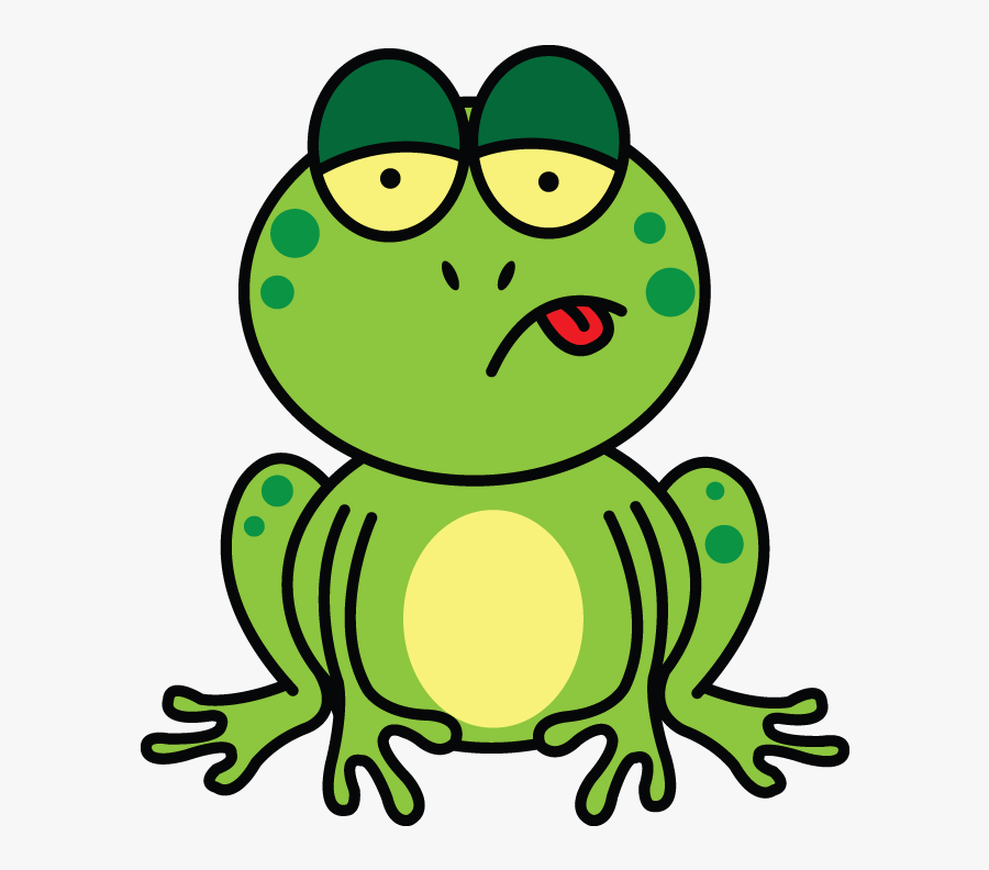 How To Draw A Frog On Lily Pad Easy Cartoon Step By - Cartoon Rainforest Frog, Transparent Clipart