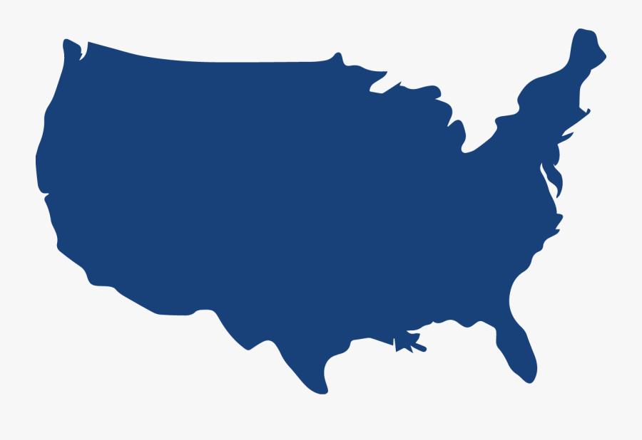 Us Map Outline Color, Transparent Clipart