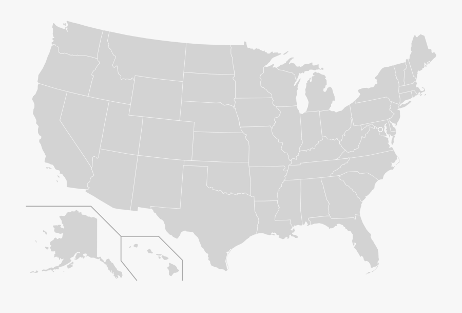 Us Governors Map 2008, Transparent Clipart